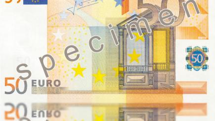 Bancnota de 50 de euro, prezentată în premieră