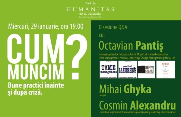 Update: Întâlnirea cu Octavian Pantiş, Mihai Ghyka şi Cosmin Alexandru, amânată!