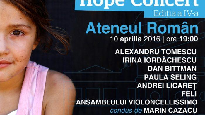 Amalia Enache și Dragoș Bucurenci vor prezenta Hope Concert,  un eveniment dedicat copiilor vulnerabili ai României