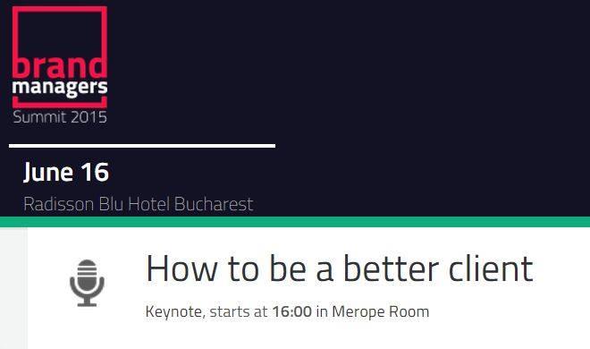 """""""Cum să devii un client mai bun"""". Workshop la Brand Managers Summit"""