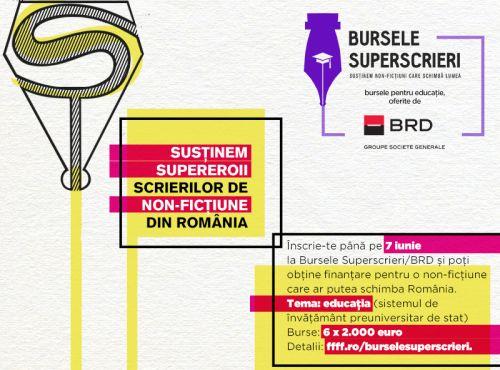 12.000 de euro pentru povești bine scrise: Bursele Superscrieri pe Educaţie