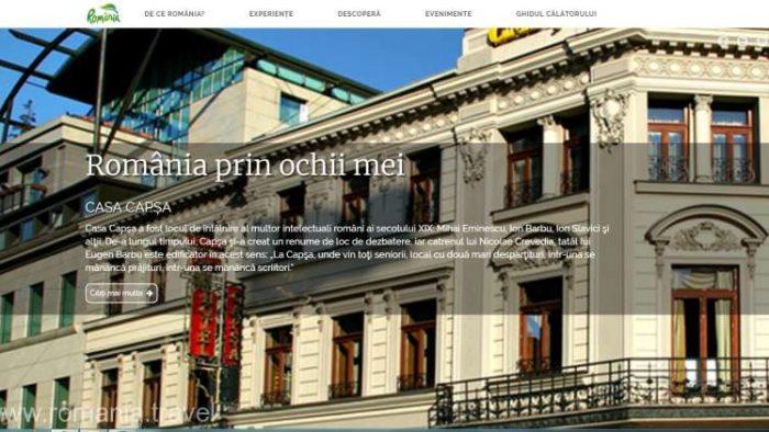 Portalul de promovare a României ca destinaţie turistică www.romania.travel va redeveni activ