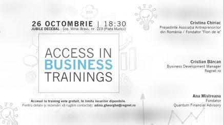"""""""Access in Business"""", training pentru antreprenorul din tine"""