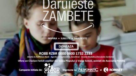 """""""Dăruieste Zâmbete"""", sprijină copiii defavorizați din Valea Plopului și Valea Screzii"""
