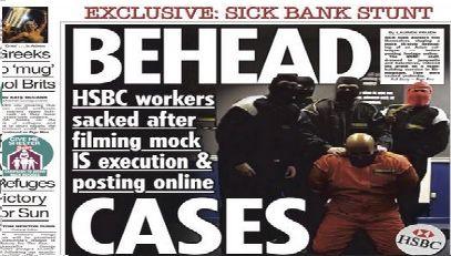 Film jihadist făcut de angajaţi ai HSBC