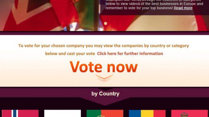 """S-a dat startul pentru titlul """"Campion Național ales de Public"""", din cadrul competiției European Business Awards"""