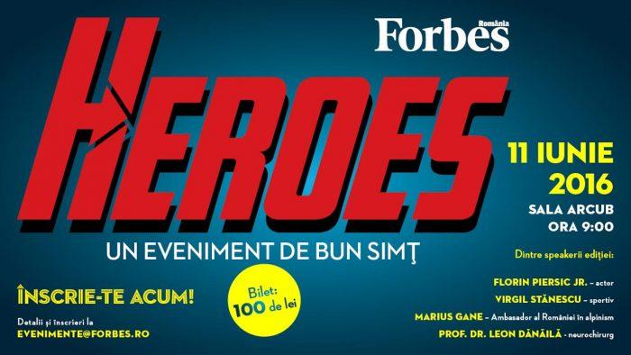 (P) Forbes Heroes aduce pe scenă a treia generație de eroi