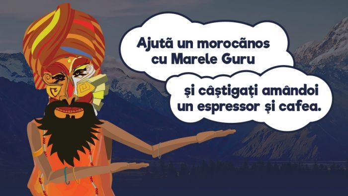 Până la finele lunii octombrie, poți ajuta un prieten morocănos cu Marele Guru Kafune!