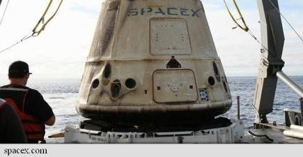 O capsulă SpaceX a căzut în Oceanul Pacific. Ce încărcătură avea la bord