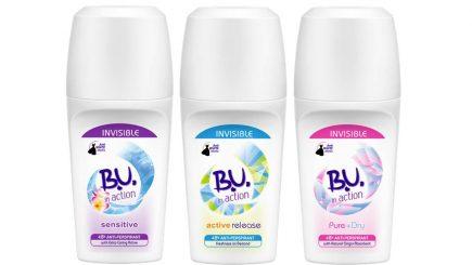 (P) B.U. lansează antiperspirantele roll-on in action