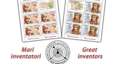 Marii inventatori ai lumii, puşi pe timbre româneşti