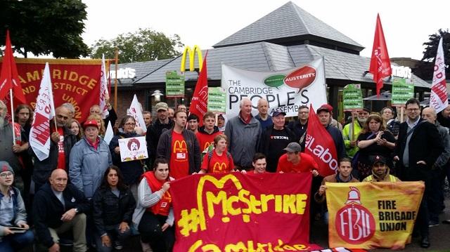 Grevă la McDonald's