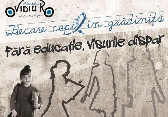 Fără educaţie, visurile dispar. Donează şi tu pentru fiecare copil la grădiniţă