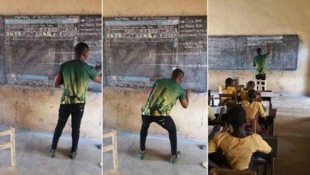 Un profesor din Ghana predă informatica fără a avea un calculator
