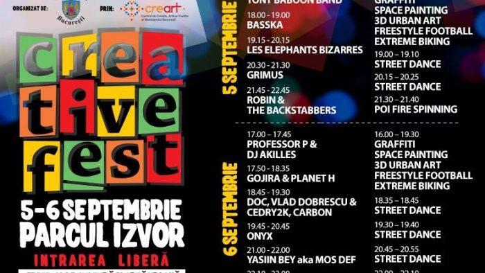 Creative Fest dă startul distracției în Parcul Izvor din Capitală