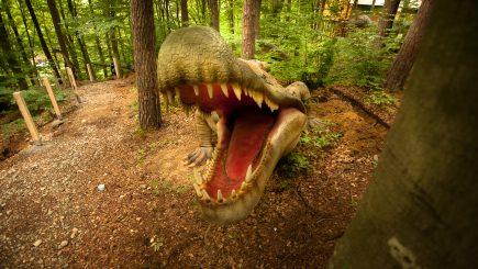 Dino Parc Râșnov, cel mai mare parc cu dinozauri din sud-estul Europei, la inaugurare