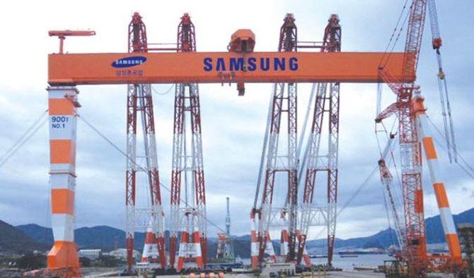 Accident de muncă de 1 mai pe un șantier naval administrat de Samsung