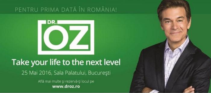 Biletele la conferința găzduită de Dr. Oz, în România, se pot cumpăra și de la Sala Palatului!