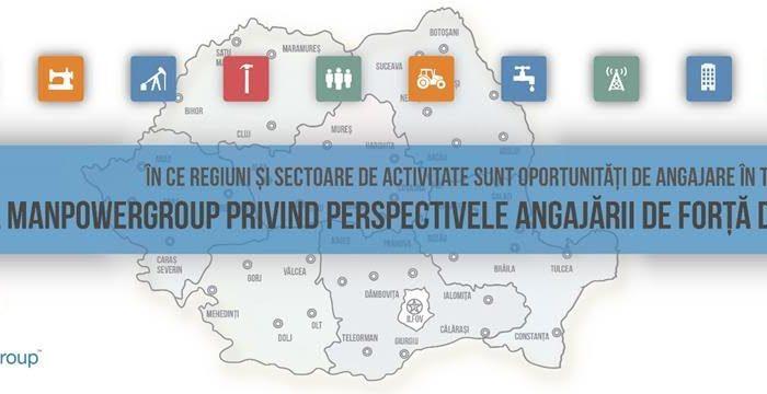 Premieră: Previziunile de angajare din toate regiunile şi industriile din România sunt pozitive