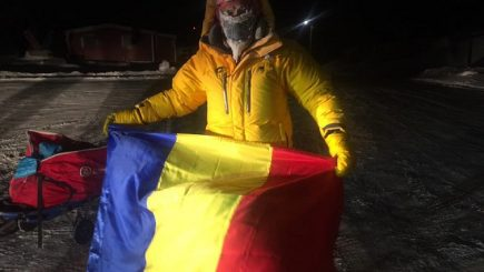 Românul Tibi Uşeriu este din nou marele câştigător al ultramaratonului de la Polul Nord