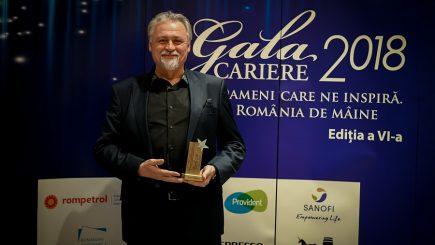"""#GalaCARIERE2018: Constantin Lomaca a câștigat Premiul la categoria """"România Educată"""""""