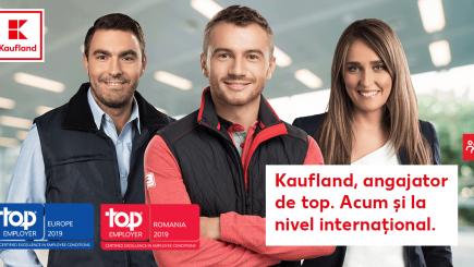 """Dublă performanță pentru Kaufland: """"Angajator de Top"""" în România pentru al patrulea an consecutiv și, pentru prima dată, """"Angajator de Top"""" în Europa"""