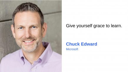 Chuck Edward: I am inspired by people and by the global nature of my work