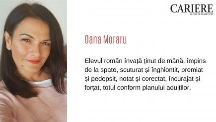 """Oana Moraru: """"Elevul român este ultimul care contează în planificările adulților"""""""