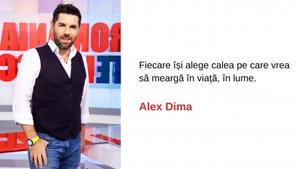 Alex Dima: Atunci când faci bine, nu poți fi om rău
