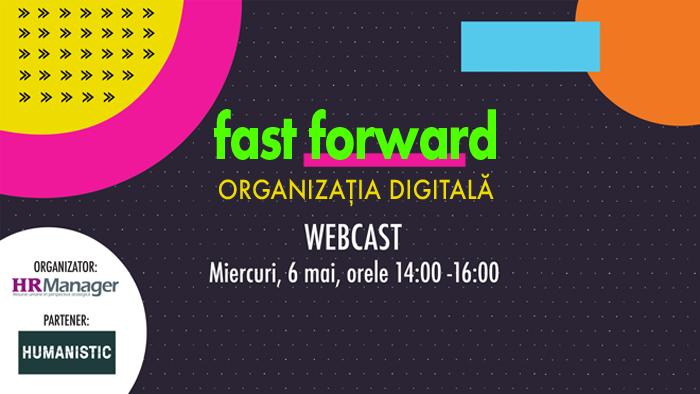 WEBCAST: Adaptarea organizațiilor la transformarea digitală - miercuri, 6 mai