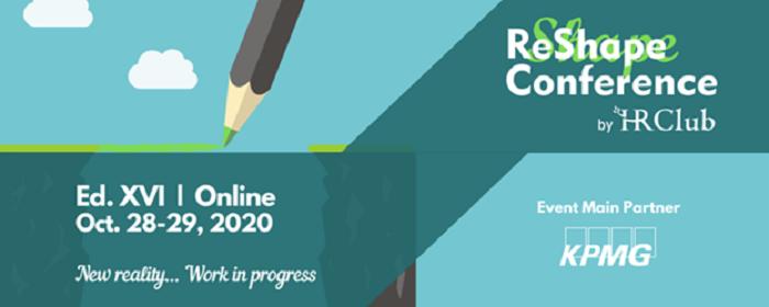 15 experţi din ţară şi străinătate, invitaţi la ReShape Conference by HR Club, pe 28 şi 29 octombrie 2020