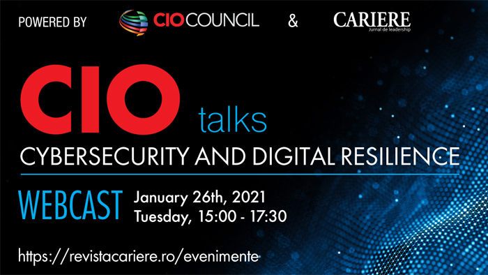 "WEBCAST: CIO TALKS - Powered by CIO Council - ""Cybersecurity and Digital Resilience"""
